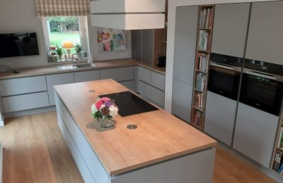 Offene, grifflose norden & aulbur-Wohnküche